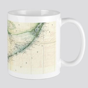 Vintage Map of The Florida Keys (1859) Mugs
