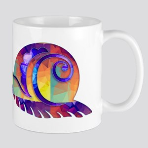 Polygon Mosaic Snail Multicolored Mugs