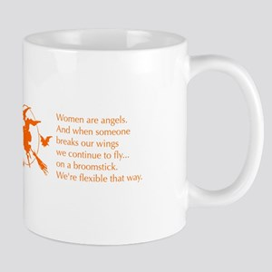 women-broomstick-orange Mugs