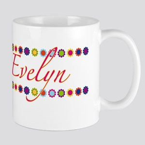 Evelyn with Flowers Mug