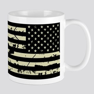 Weathered Reverse U.S. Flag (Sand) Mugs