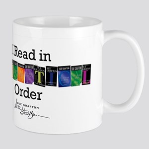 I Read in Alphabetical Order Mugs