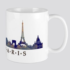 Mosaic Skyline of Paris France Mugs