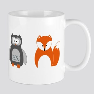 Raccoon, Owl and Fox Trio Mugs