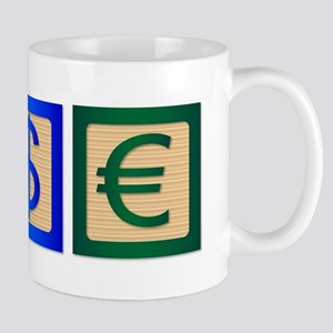 Money SIgn Wood Blocks Mugs