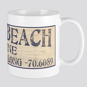York Beach Lat Long Mugs