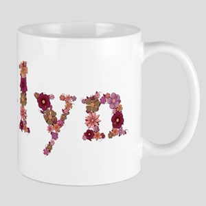 Evelyn Pink Flowers Mugs