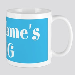 LIGHT BLUE Personalized 11 oz Ceramic Mug