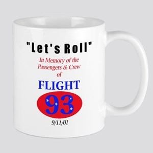 """Warning: We Fight Back"" Flight 93 Mug"
