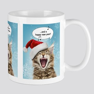 Singing Cat Christmas Mug