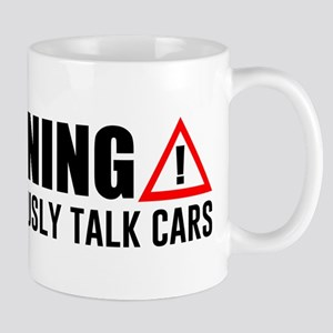 Warning May Spontaneously Talk C 11 oz Ceramic Mug