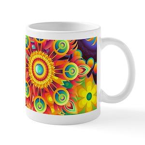 2442a97aa9f Funky Retro Pattern Abstract Mugs