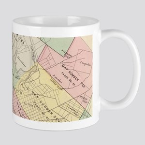 Vintage Map of Oakland California (1878) Mugs