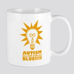 Autism Doesn't Make Me Blue Mugs