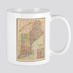 Vintage Map of New England (1880) Mugs