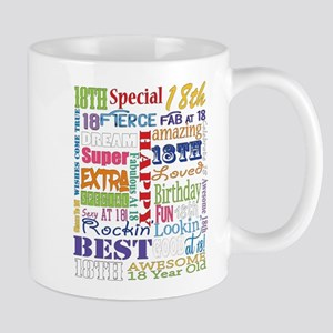 18th Birthday Typography Mugs