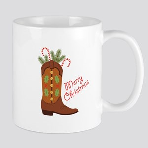 Western Cowboy Boot Merry Christmas Mugs