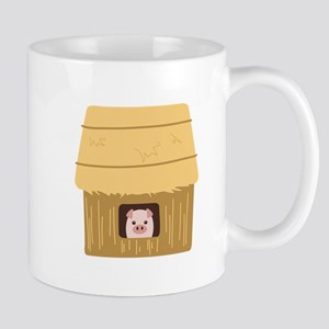 Straw House Pig Mugs