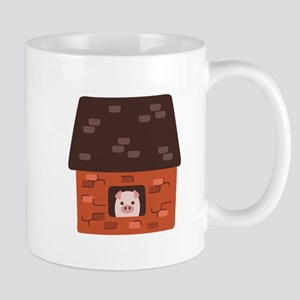 Brick House Pig Mugs