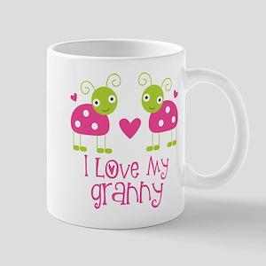 I Love Granny Ladybug Mug