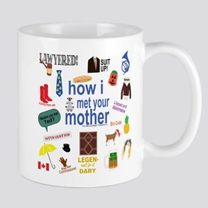 HIMYM Symbol Collage Mugs
