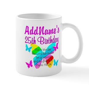 c48ce8771 Happy 25th Birthday Mugs - CafePress