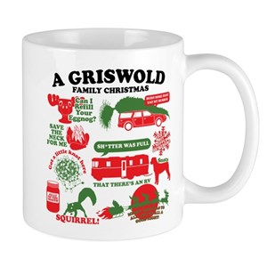 Christmas Coffee Mugs.Christmas Vacation Movie Collage Mugs