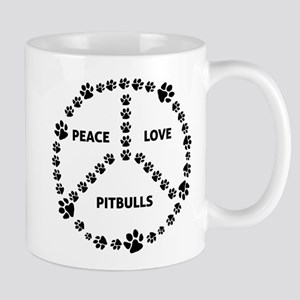 Peace Love Pits Circle Mug