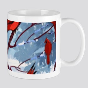 Cardinals Winter Landscape Mug