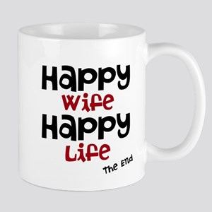 Happy Wife Happy Life The End Mugs