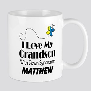 Down Syndrome Grandson Personalized Mugs