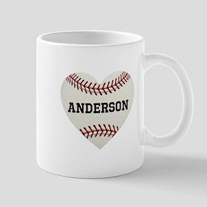 d694b5e92a6 Baseball Love Personalized 11 oz Ceramic Mug