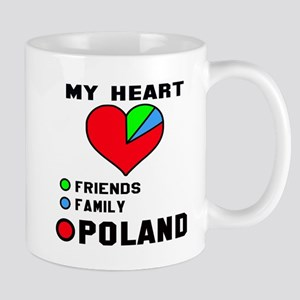 My Heart Friends, Family and Pol 11 oz Ceramic Mug