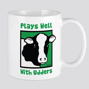 Plays Well With Udders Large Mugs