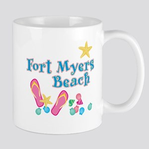 Ft. Myers Beach Flip Flops - Mug
