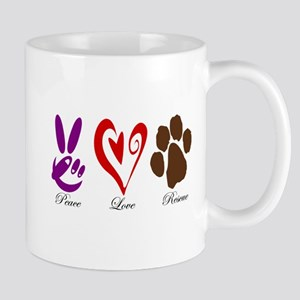 Peace, Love, Rescue Mug
