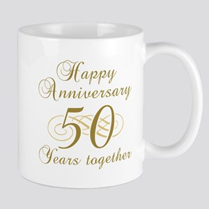 50th Anniversary (Gold Script) Mug
