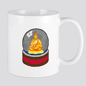 Meditating Buddha in a Snow Globe Mug