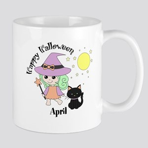 Custom name Halloween witch Mug