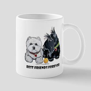 Scottie & Westie Best Friends Mug