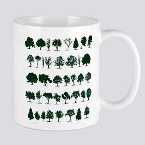 Tree Silhouettes Green 1 Small Mug