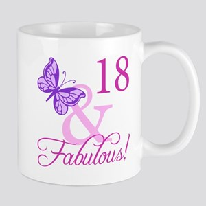 Fabulous 18th Birthday For Girls Mug
