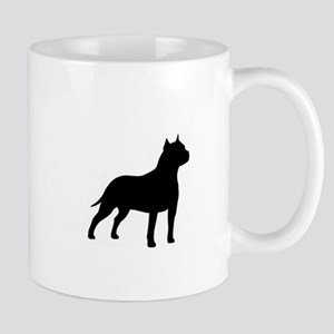 american-staffordshire-terrier- silo black Mugs