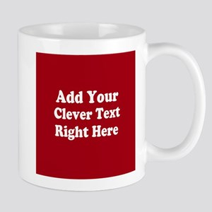 Add Text Background Red White Mugs
