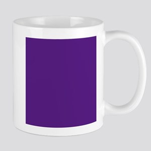 Dark Purple Solid Color Mugs