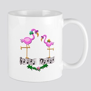 Dancing Pink Flamingos - Mug