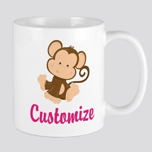Personalize this adorable baby monkey w Mug