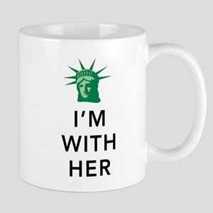 I'm With Her - Liberty Head-White Mugs