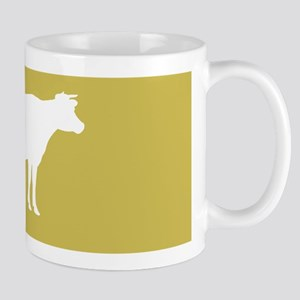 Cow: Mustard Yellow 11 oz Ceramic Mug