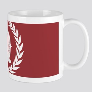 Rustic Red Monogram: Letter Q 11 oz Ceramic Mug